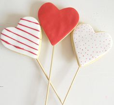 Deliciosas galletas para el Día de San Valentín / Lovely heart-shaped cookies for St. Valentine's Day