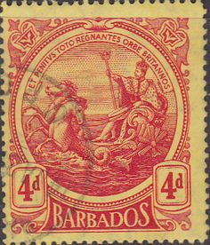 Barbados 1916 Seal of the Colony SG 185 Fine Used Scott 131 Other Barbados Stamps HERE