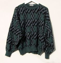Vintage Geometric Cosby  Sweater  by Gintro   $22.00