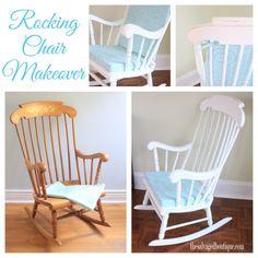 vintage rocking chair collage