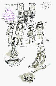 marion de castillon: Mon agenda dessiné 2014, Mai