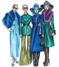 #Gucci #Squad by @mariaartie #FashionIllustrations   Be Inspirational ❥ Mz. Manerz: Being well dressed is a beautiful form of confidence, happiness & politeness