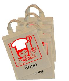Personalised Cooking Party Bags This cute Personalised Cooking Party Bags will be a sheer party delight, the perfect goody bag for your little guest to take home after a very lovely time cooking real party treats. Kids will be enamoured our Personalised Cooking Party Bags. Each bag will be customised with individual names. We may not always have the exact […] Party Treats, Very Lovely, Party Bags, Goodie Bags, Paper Shopping Bag, Reusable Tote Bags, Names, Cooking, Kids