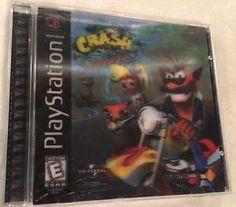 Crash Bandicoot Warped (Playstation 1 / PS1) Complete Holographic Case