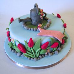 Cakes By Jacques - Beautiful Bespoke Cakes, Biscuits and Cupcakes: Gardening Cake