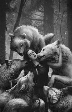 Red Riding and Wolf by kidy-kat on DeviantArt Wolf Love, Dark Fantasy, Fantasy Art, Der Steppenwolf, Wolves And Women, Drawn Art, Big Bad Wolf, Wolf Spirit, Wolf Girl