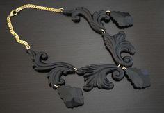 DIY Necklace  : DIY Proenza Schouler Scroll Necklace