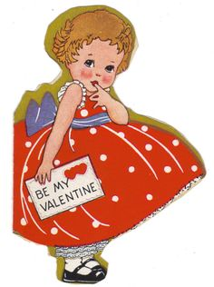 Vintage Valentines Day Card - Be My Valentine ...