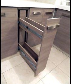 Grey Kitchen Designs, Kitchen Room Design, Kitchen Cabinet Design, Modern Kitchen Design, Interior Design Kitchen, Modern Kitchens, Kitchen Modular, Modern Kitchen Cabinets, Kitchen Furniture