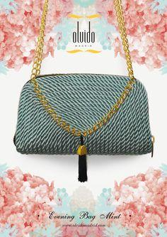 BOLSO CUADRADO MENTA // Evening purse made from silk cord   Website ~ www.olvidomadrid.com