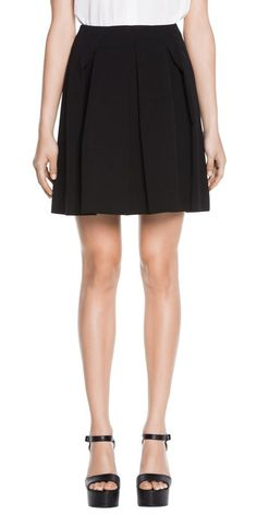 Skirts | Cotton Twill Pleat Skirt