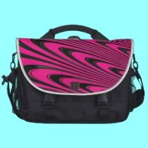 Fuchsia Peacock Feathers Fractal commuterbag by Artists4God.  Prices for my products start at around $1.00!