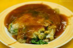 蚵仔煎,久違了。@寧夏夜市 #Taiwanese fried #oysters with eggs & vegetable #food #Taiwan
