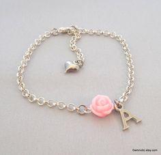 Flower Girl Gift - http://www.etsy.com/listing/161655698/personalized-flower-girl-bracelet-flower
