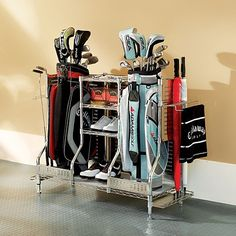 Storing Golf Clubs in Garage | Shop Home Storage & Organization Garage & Outdoor Storage Double Golf ...