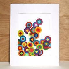 Project 30 Week 30 – Circular Paint Chip Art – the 3 R's blog