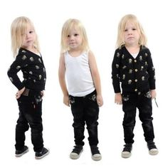 Rock Your Baby Style Council Cords and Nirvana Skull Print Cardigan