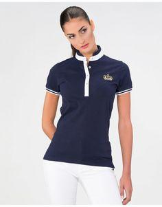 Polos Mujer - Piel de Toro Camisa Polo, Polo Shirt Design, Yoga Wear, Gto, Office Outfits, Equestrian, Preppy, Casual, Shirt Designs