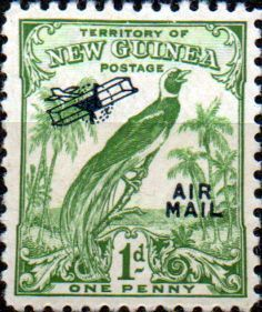 Papua New Guinea 1932 SG 191 Raggiana Bird of Paradise Air Mail Overprint Scott C29 Fine Used Other Papua New Guinea Stamps HERE
