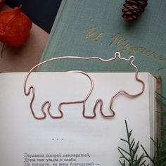 Copper Wire Crafts, Copper Jewelry, Wire Jewelry, Jewellery, Wire Bookmarks, Wire Jig, Paper Clip, Customized Gifts, Hippo Tattoo