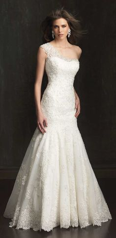 One Shoulder beauty ~ Allure Bridals 2014