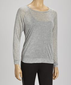 Gray Mona Top | Daily deals for moms, babies and kids