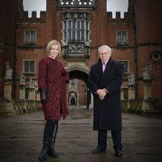 Lucy Worsley and David Starkey at Hampton Court