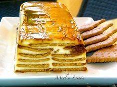 TARTA de Galletas y queso Philadelphia / 2 Paquetes de galletas rectangulares tipo María (unas 60 galletas). 200 gr Queso Philadelphia (podéis usar uno de marca blanca). 600 gr Nata para montar (35%m.g). 150 gr Azúcar. 150 gr Leche. 1 Cucharada Azúcar Vainillado. 1 y 1/2 Sobre de Cuajada. Caramelo líquido para el molde (yo uso marca Hacendado o Royal)