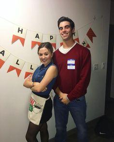 Hallowen Costume Couples Ross & Rachel from Friends Halloween Costume