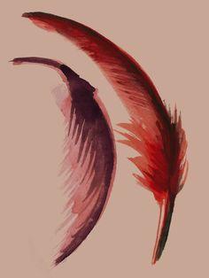 feathers Paper Feathers, Ap Art, Dreamcatchers, Antlers, Imagination, Piercings, Goodies, Illustration Art, Creativity