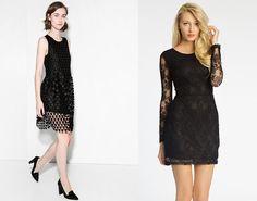 Nevšední materiál okamžitě posune šaty na jinou úroveň. Na foto (zleva): Mango 999 Kč, Pepe Jeans 1199 Kč; archiv firem