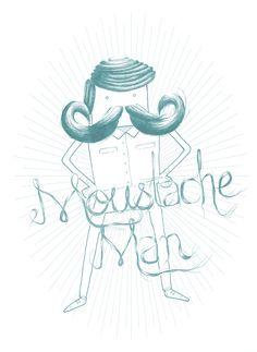 MOUSTACHE MAN #mustache #blog #rebel #moustache #ink #illustration #illustrator #baffi #bigotes