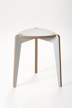 Stool - 3 legs  The Stool is made of moisture-resistant, high-quality birch plywood, coated with high pressure laminate or oak veneer. We have designed own special furniture mounts, providing long life for the product. The collection's most prominent features are elegance and durability. It's easy to assemble and transport.   Lead time: 4-6 weeks  For trade enquiries and pricing, please email info@iwoodlike.co.uk