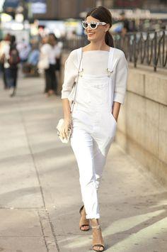 All white (mooi met gouden accessoires!)