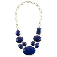 Irene Neuwirth Rose and Emerald Cut Lapis Necklace (Lapis)... ($21,480) ❤ liked on Polyvore