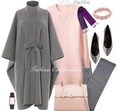 Z - Hijab Dress With Self Waistcoat . Islamic Fashion, Muslim Fashion, Modest Fashion, Hijab Fashion, Fashion Outfits, Hijab Evening Dress, Hijab Dress, Hijab Outfit, Daily Fashion