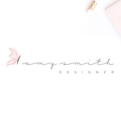Butterfly Logo. Minimal Butterfly Logo. Simple Butterfly Logo. Signature Logo. Calligraphy Logo. Watermark Logo. Handmade Logo. Shop Logo by Logowave on Etsy