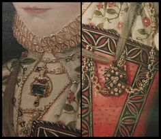 Lovely jewelry details from 1569