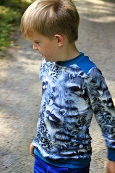 Patroon leather sweater, maison Victor. Supermam: Beestige truitjes