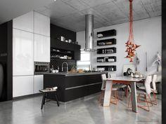 VrayWorld - Black Kitchen
