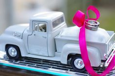 1956 Ford Truck Ring Pillow - with Satin Pillow and Ribbon - Alternative Weddings - Country Weddings on Etsy, $58.00