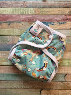 Rainbows and Unicorns Poly PUL Cloth Diaper by FluffysDiapers