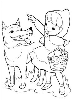 20 printable Little Red Riding Hood coloring pages for kids. Free Printable Coloring Pages Little Red Riding Hood Coloring Sheets Free Printable Coloring Pages, Coloring For Kids, Coloring Pages For Kids, Coloring Sheets, Coloring Books, Red Riding Hood Wolf, Red Riding Hood Party, Little Pigs, Little Red