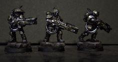 Dark Tau is sweet looking. Cool color scheme. #warhammer #40k