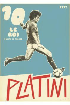 Platini #football #poster #design
