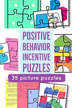 Need positive behavior help? Your students will LOVE earning each piece that completes a picture of an earned reward activity. #behaviorchart #positivebehavior #reinforcement