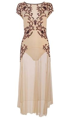 Gorgeous  AW12 Floor Length Embroidered Dress by Miss Selfridges