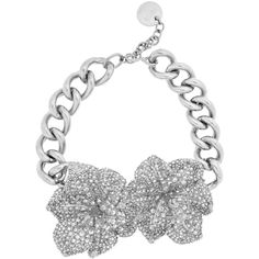 Silver-plated Swarovski crystal necklace (2.070 BRL) ❤ liked on Polyvore featuring jewelry, necklaces, alexander mcqueen, bracelets, collane, silver plated necklace, swarovski crystal jewelry, alexander mcqueen jewelry, alexander mcqueen necklace and silver plating jewelry