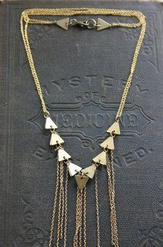 Geometric Fringe Necklace: Laura Lombardi