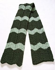 Ravelry: Loom Knit Chevron Scarf pattern by Faith Schmidt